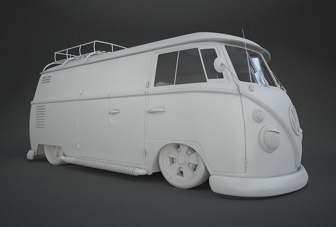 3d vw t1 custom bus cgtrader vw t1 custom bus 3d model altavistaventures Image collections
