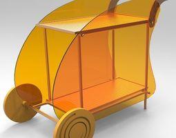3D model Outdoor trolley
