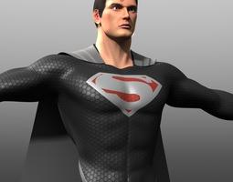 3d asset reign of supermen costume low-poly