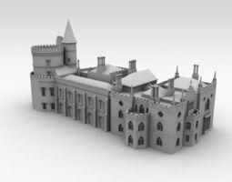 3D model Strawberry Hill House - London