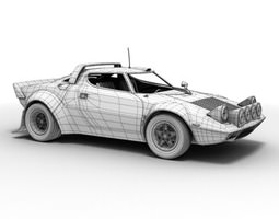 3d model lancia stratos rallycar