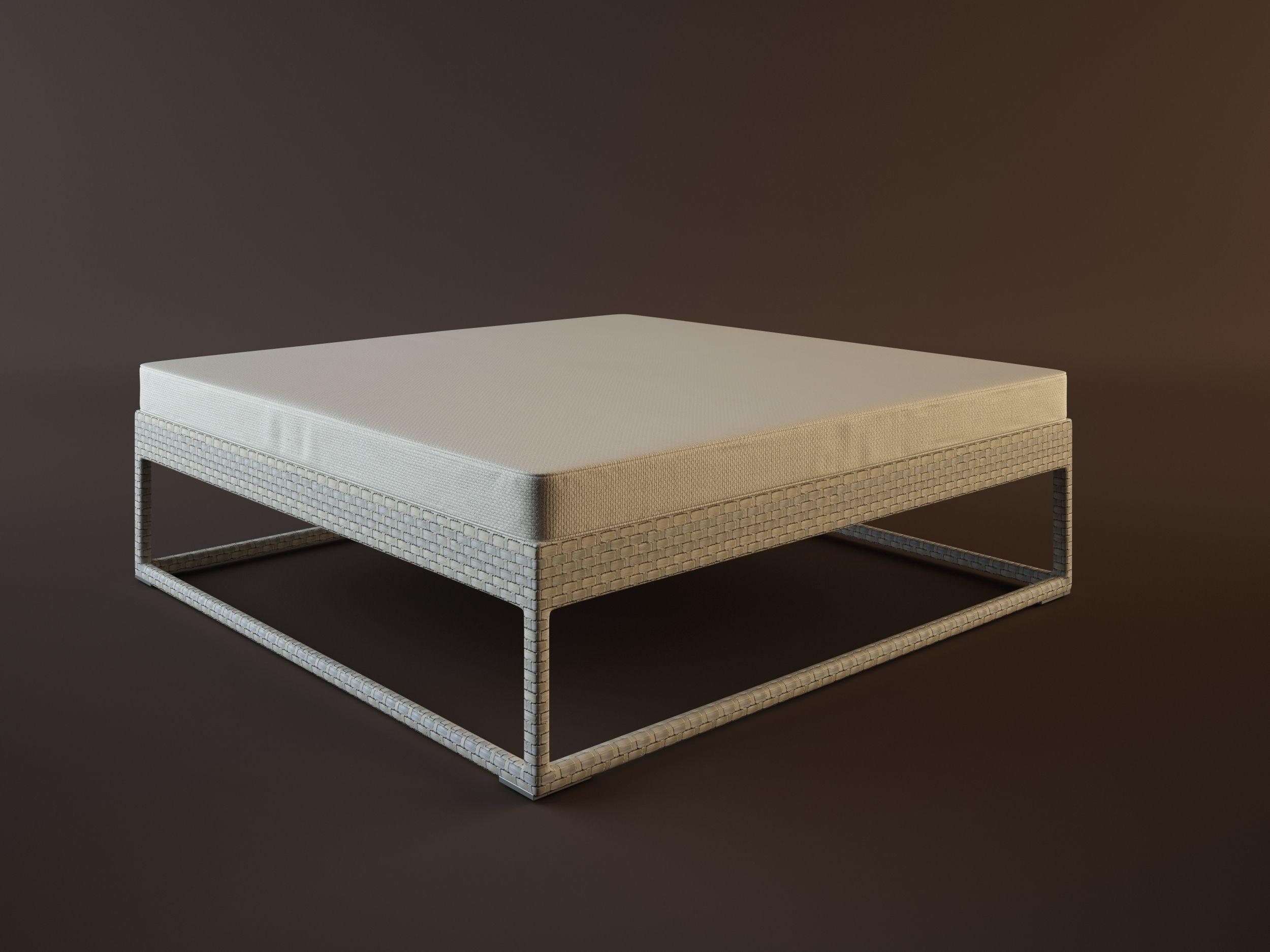 Dedon Flyer Tables 3d Model Max Obj Fbx Mtl