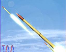 VR / AR ready fadjr-3 and fadjr-5 rockets 3d asset