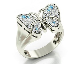 3D print model ring-butterfly-2