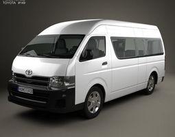 Toyota HiAce Super Long Wheel Base with HQ 3D model 1