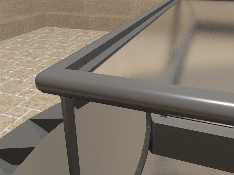 3d model simple terrace table with a glass plate vr ar for Ar 11 6 table 6 2