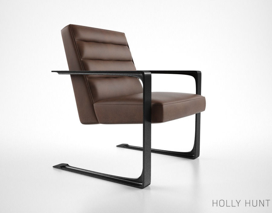 holly hunt delta lounge chair 3d model max obj fbx mtl 1 ... & 3D model Holly Hunt Delta Lounge chair | CGTrader