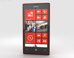 3D Nokia Lumia 520 Red