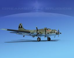Boeing B-17F Flying Fortress MP V06 3D