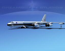 Boeing B-52H Stratofortress NASA 3D model