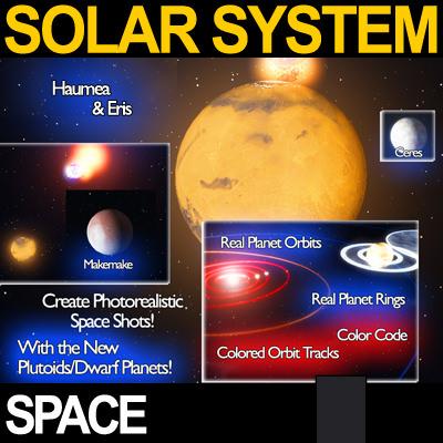 Solar System Planets Photoreal 3d Model Vue Mat Pdf 5