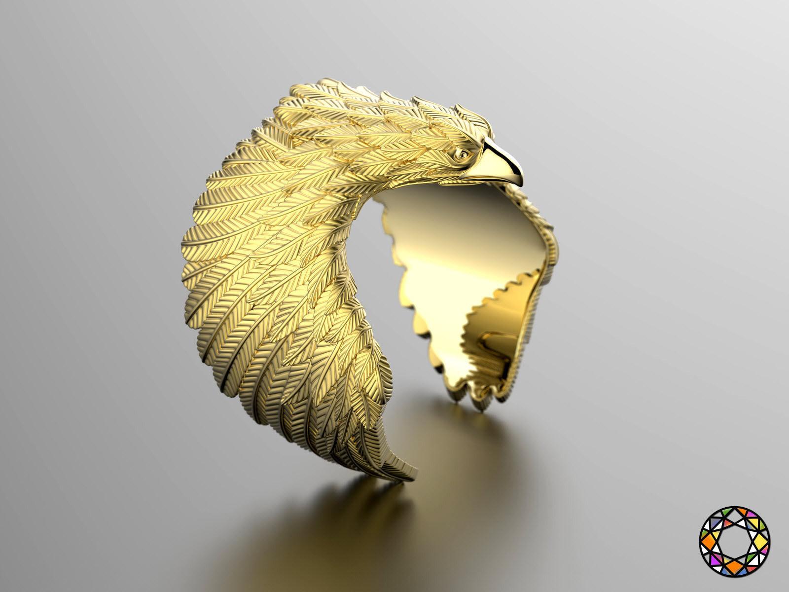 Eagle fashion ring 0156 2