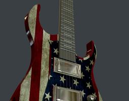 Jeckson true american electra guitar 3D model