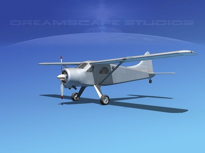 dehaviland dh-2 bare metal 3d model max obj mtl 3ds lwo lw lws dxf stl 1