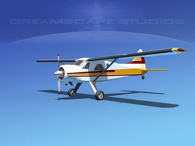 dehaviland dh-2 beaver sl13 3d model max obj mtl 3ds lwo lw lws dxf stl 1