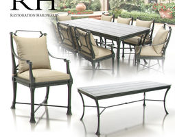 3d restoration hardware - antibes collection
