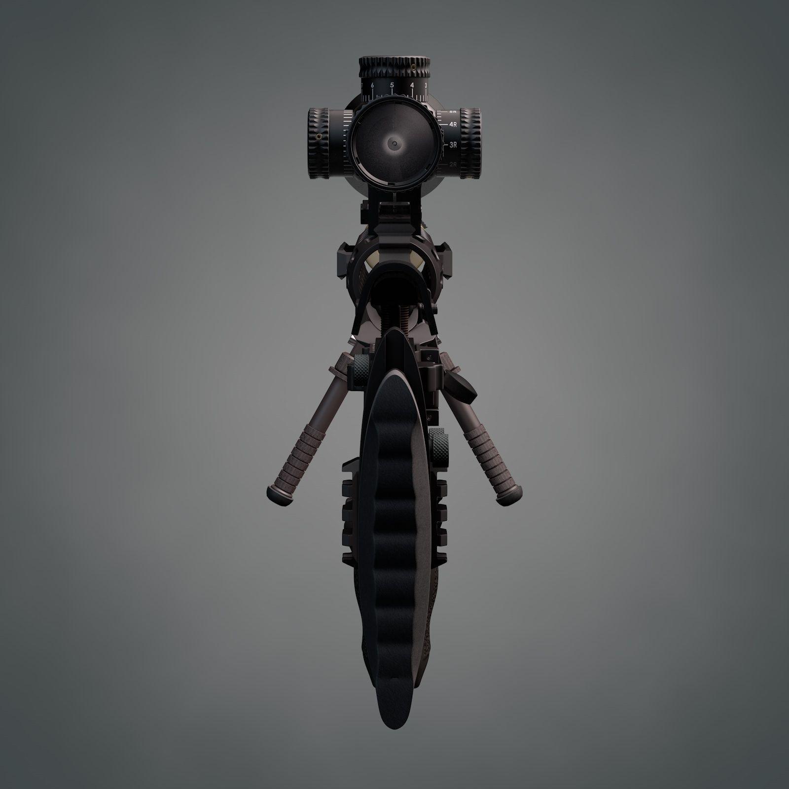 Remington XM2010 sniper rifle 3D Model OBJ 3DS C4D LWO LW ...