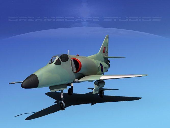 douglas a-4d skyhawk v15 rnzn 3d model max obj 3ds lwo lw lws dxf stl 1