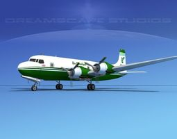 Douglas DC-6 Air Atlantique 3D model
