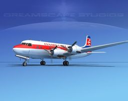 Douglas DC-6 Cunard Eagle 3D model