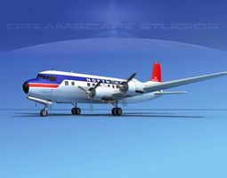 Douglas DC-6 Northwest Airlines 3D