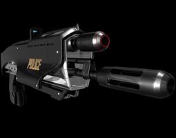 bullet Sci-Fi Gun 3D model