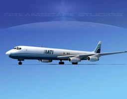 Douglas DC-8-63F ATI 3D
