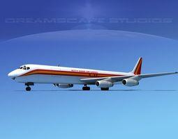 3D model Douglas DC-8-63F Kitty Hawk Air cargo