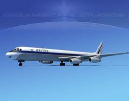3D model Douglas DC-8-63F United
