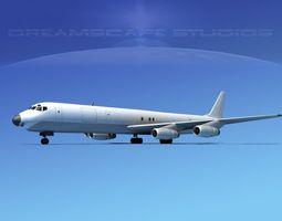 3D Douglas DC-8-63F Unmarked 1