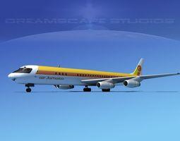 3D Douglas DC-8-63 Air Jamaica