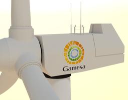 electricity 3D model wind turbine