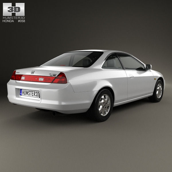 Honda accord coupe 1998 3d model max obj 3ds fbx c4d lwo for Honda accord base model