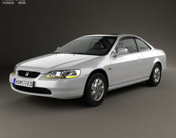 3d model honda accord coupe 1998
