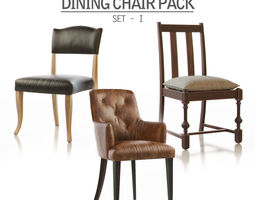 3d dining chair pack - set i
