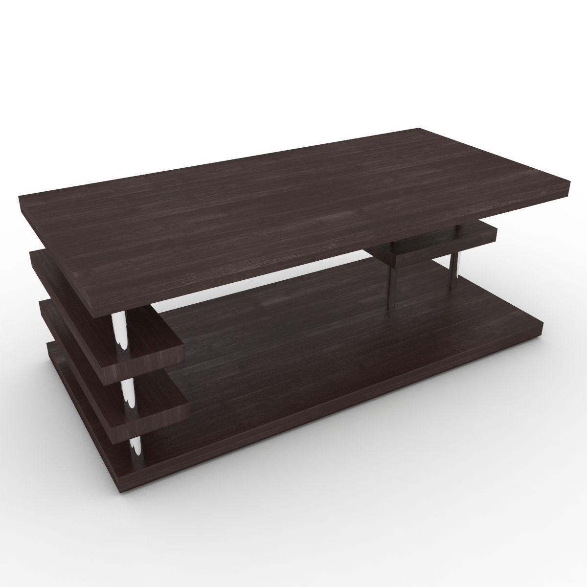 Modern Coffee Table 3d Model Max Obj 3ds Fbx