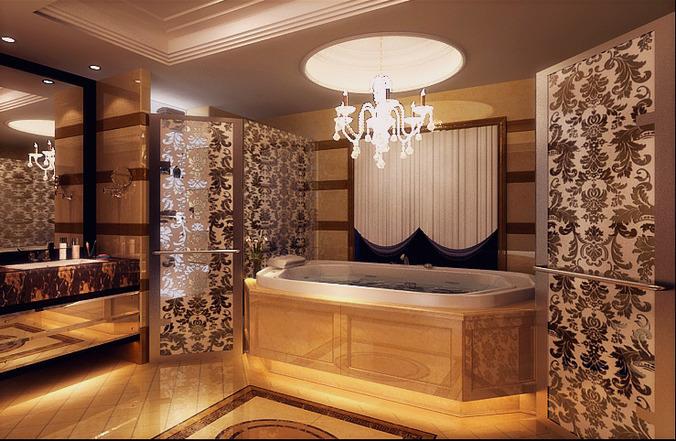 Grand bathroom interior 3d model cgtrader for Grand designs 3d bathroom kitchen