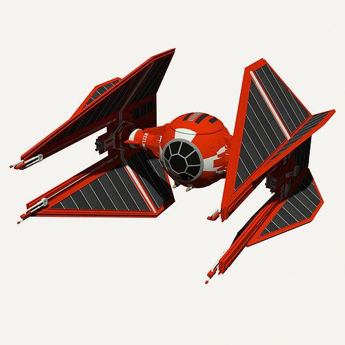 royal guard tie interceptor 3d model obj mtl 3ds fbx hrc xsi dae skp 1