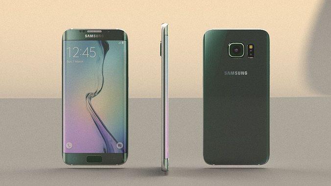 samsung galaxy s6 edge 3d model max obj mtl 3ds fbx stl 1