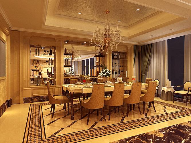 Dining room 3d model max tga for Dining room 3d max interior scenes