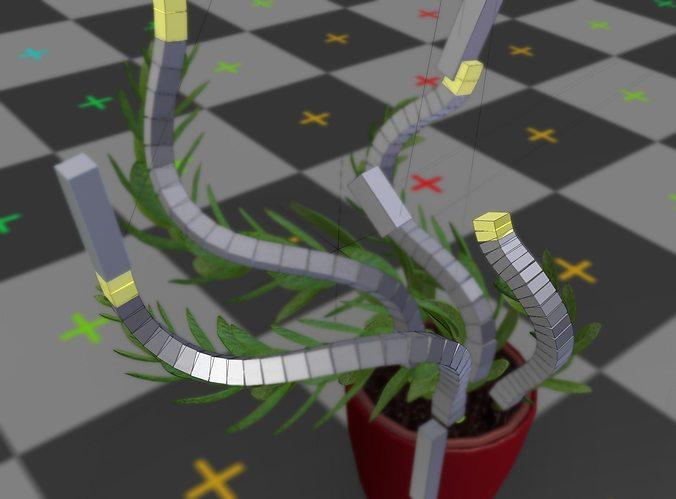 indoor plant rigged 3d model low-poly rigged obj mtl 3ds fbx blend dae x3d 1