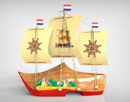 3d printable model netherland boat souvenir
