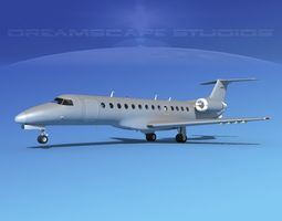 3D model Embraer ERJ-135 Bare Metal