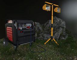 3D asset Generator and spotlight