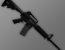game-ready m4a1 carbine 3d model