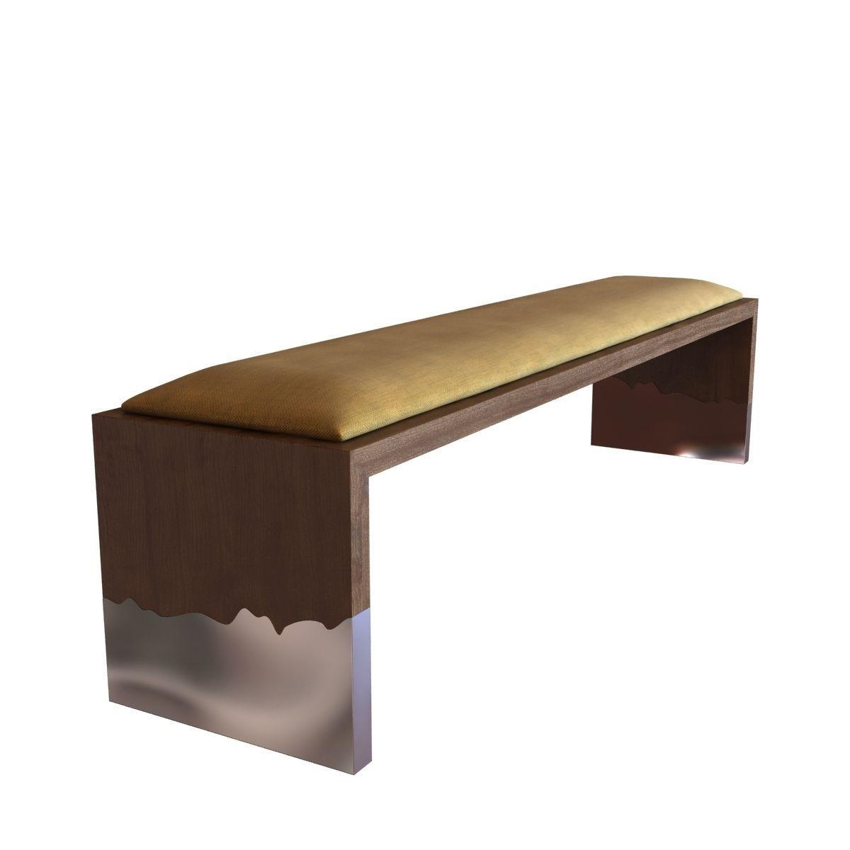 Hudson Furniture Dipped Bench 3d Model Max Obj 3ds Fbx Mtl 1 ...
