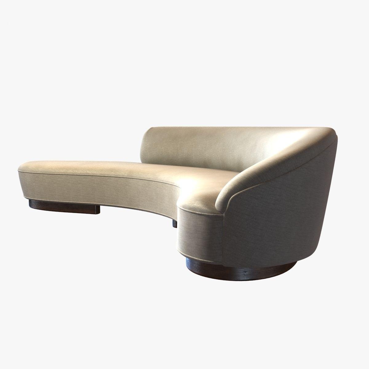 Superieur ... Vladimir Kagan Freeform Curved Sofa With Arm 3d Model Max Obj 3ds Fbx  Stl Mtl 3 ...