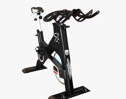 3d model gym stationary bicycle