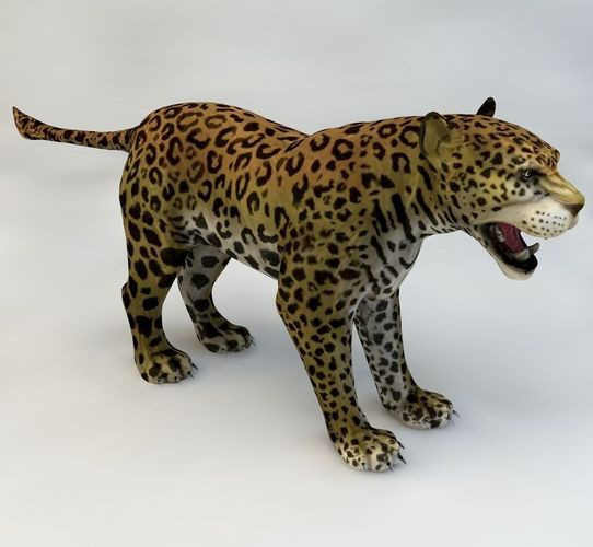 jaguar animated 3d model rigged animated max c4d 1