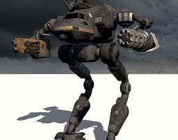 the behemoth g2 bipedal assault mech type i  3d model obj fbx X
